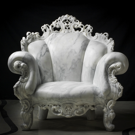 Alessandro Mendini marble Proust chair