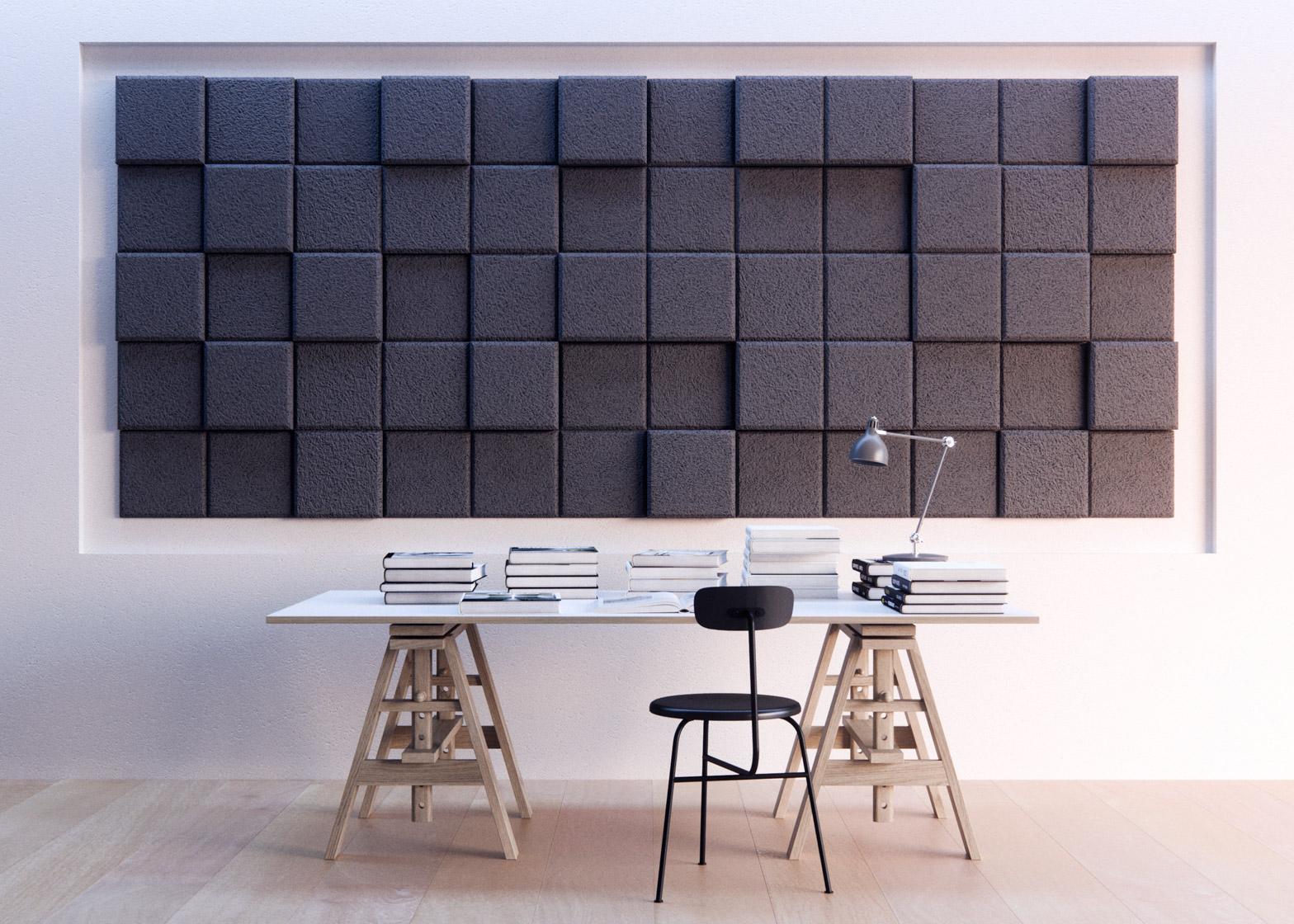 Acoustic Tiles Form Us With Love Pixellated Baux dezeen 1568 3