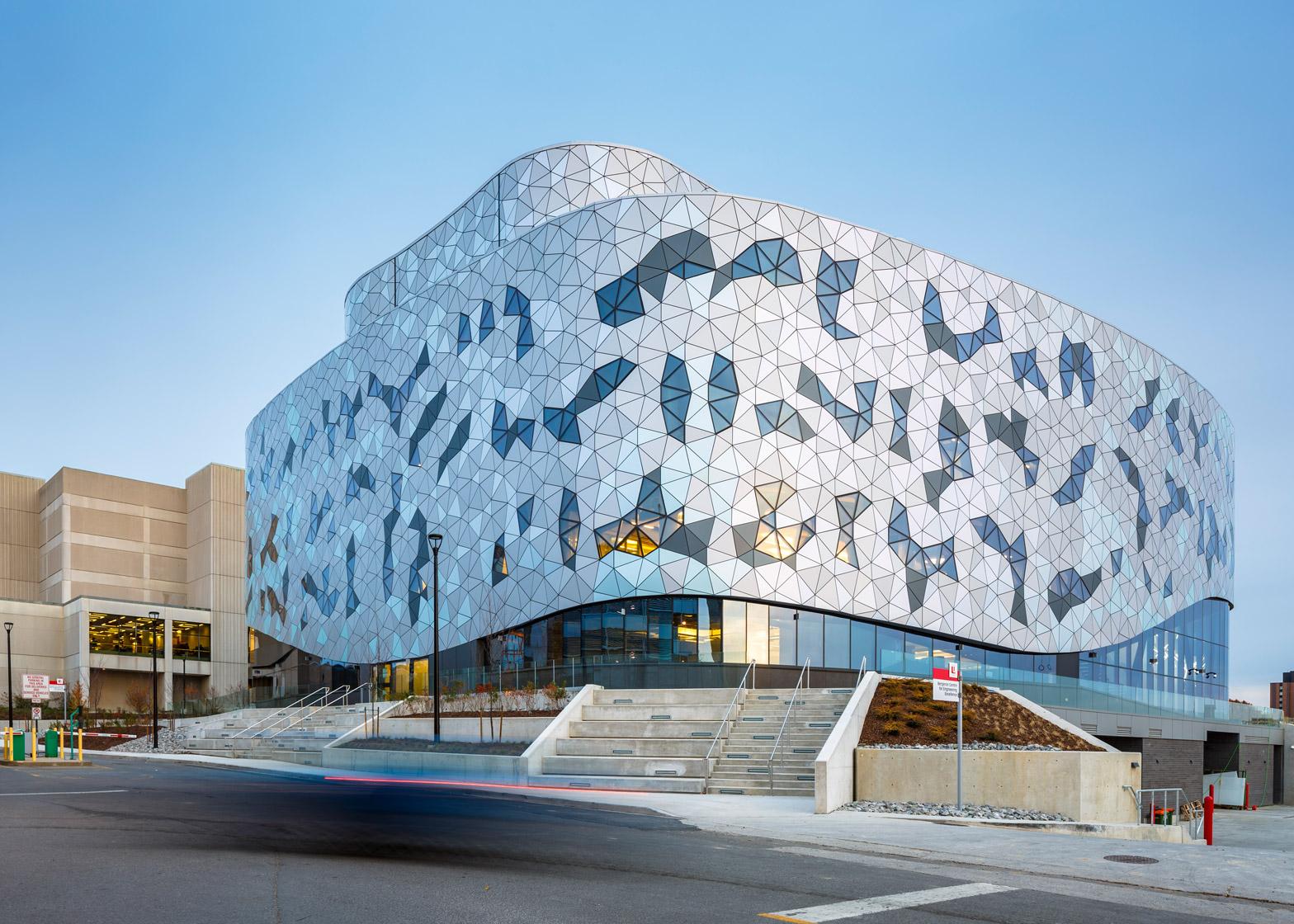 Architects Toronto Zas Creates Tessellated Facade For Toronto Engineering School