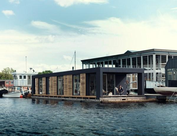 Houseboat by Laust Nørgaard, Copenhagen