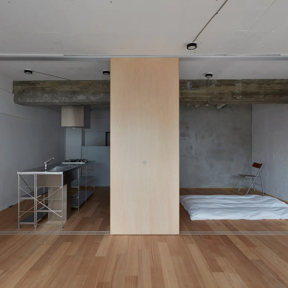 Small Apartment Interior Frontofficetokyo Strips Small Apartment Down To A Single Room