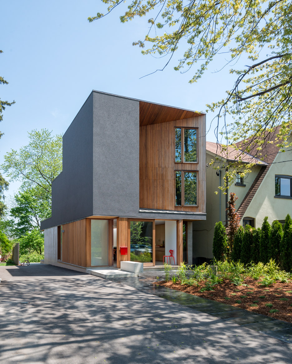 Architects Toronto Williamson Chong Adds Carved Facade To Toronto Family Home