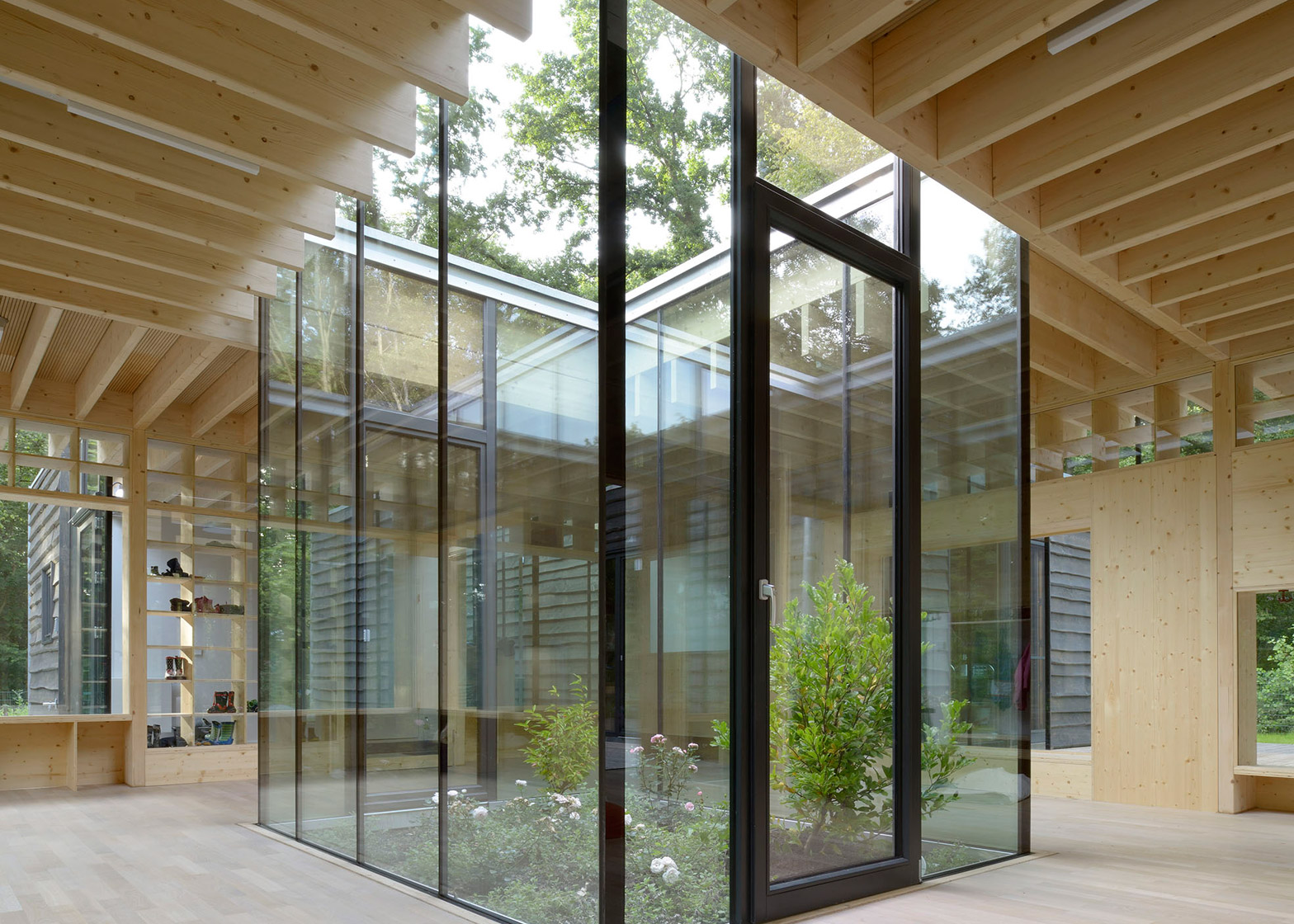 Interior Designer Hamburg Kraus Schoenberg Architekten Nursery Opens Up To Forested Site