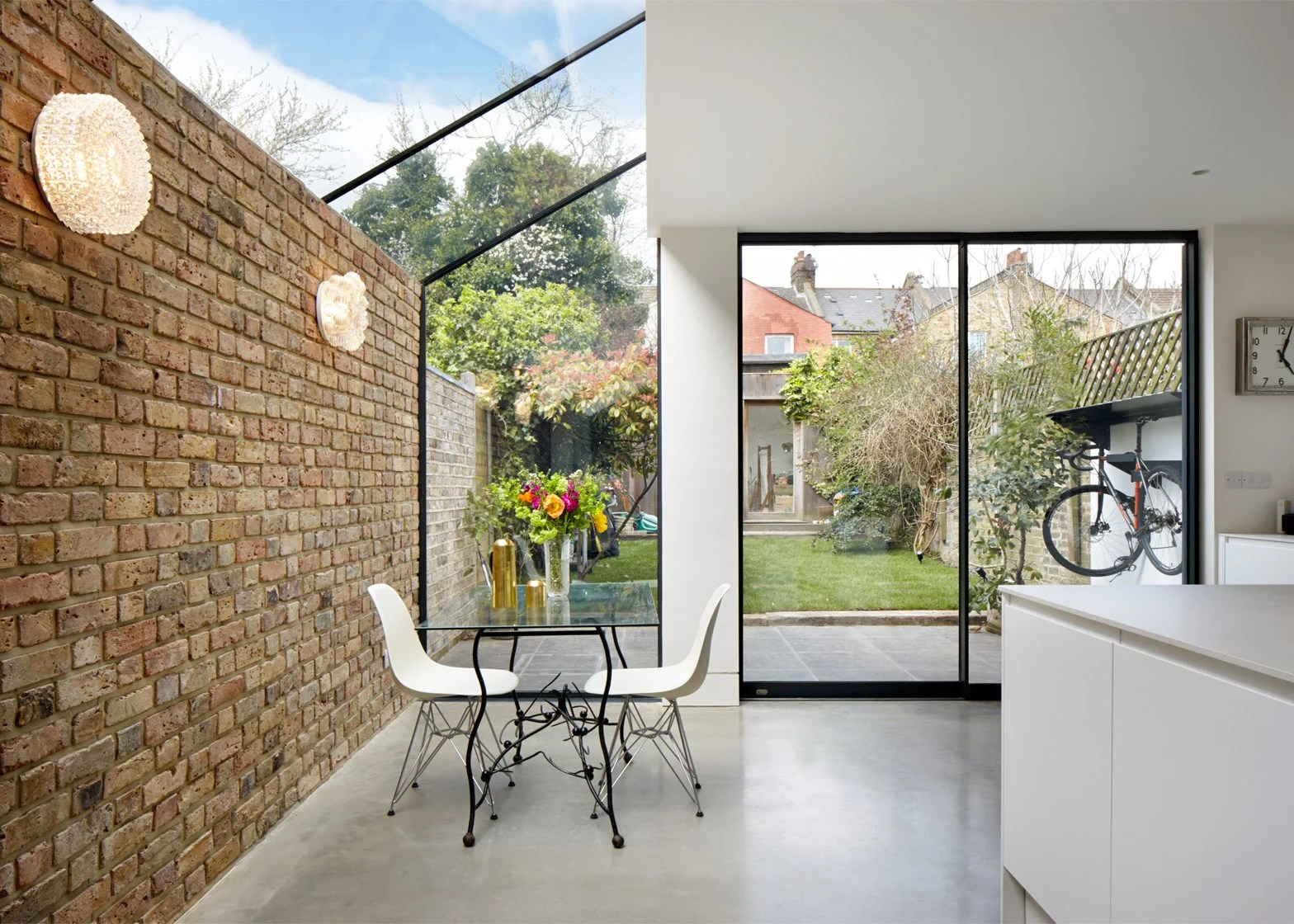 Glass Roof Extension Rise Design Studio Adds Glass Extension To London House