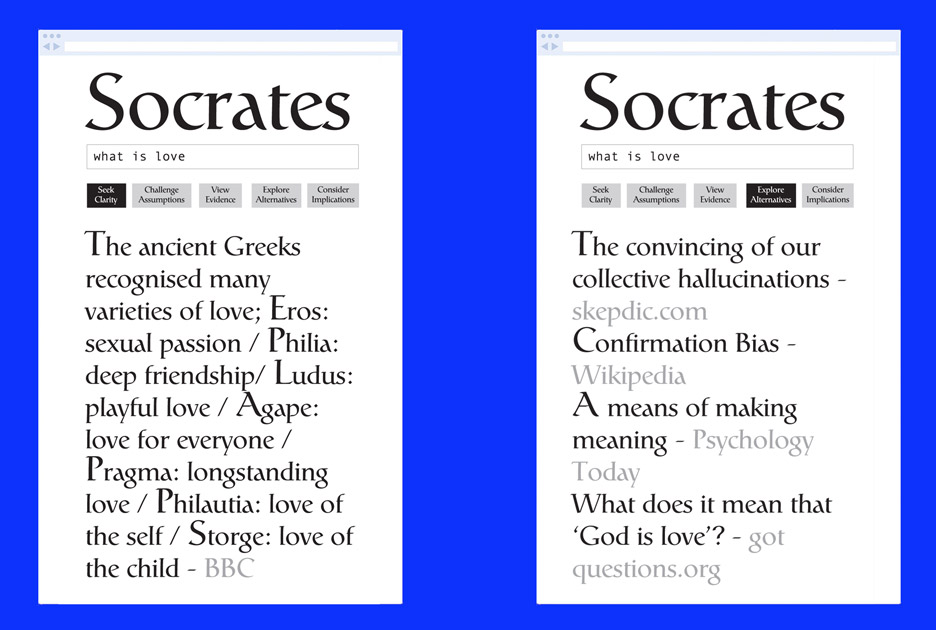 Ted Hunt invites users to Google using Socratic method
