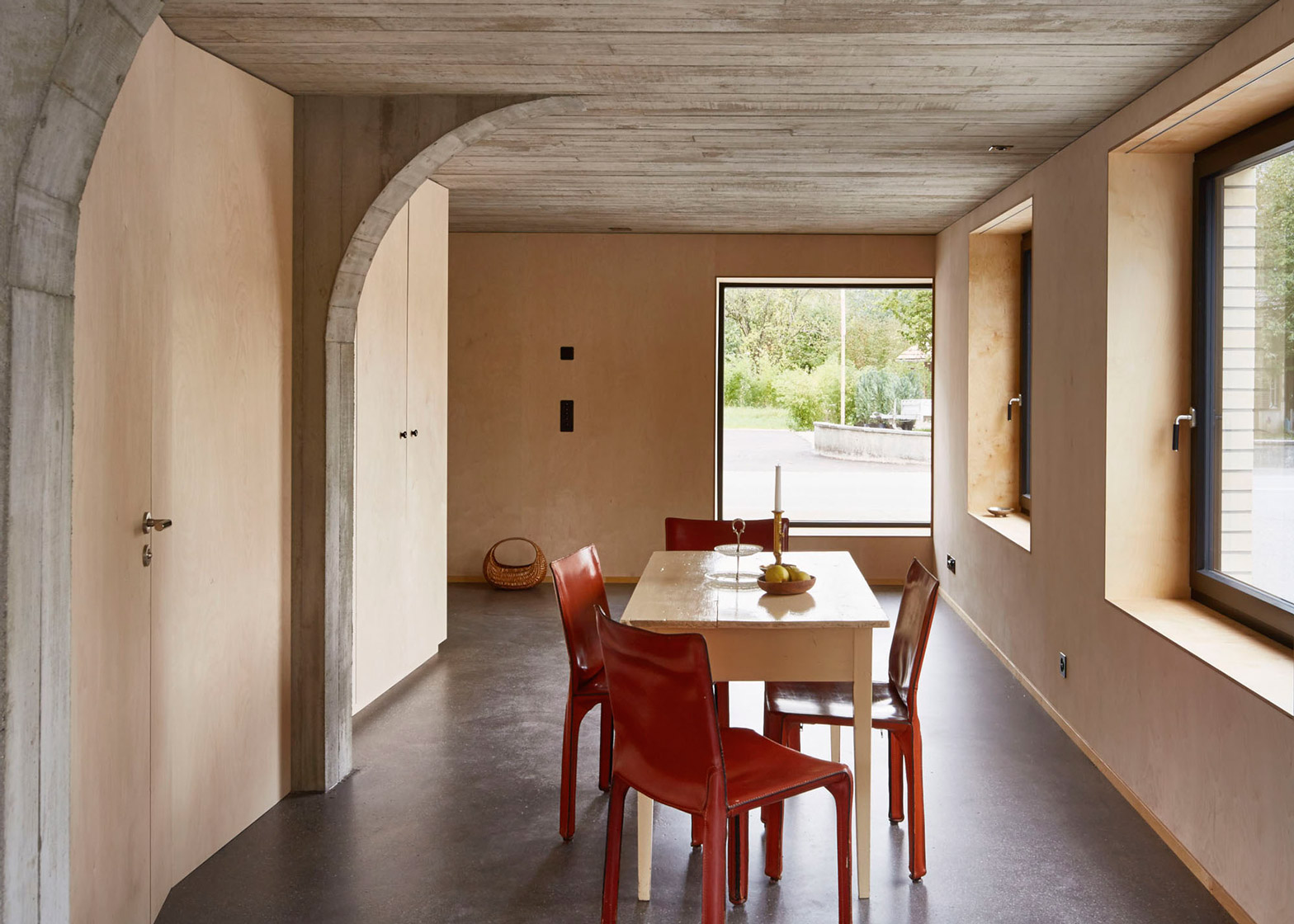Concrete Rooms Freiluft Converts Swiss Barn Into Apartment With