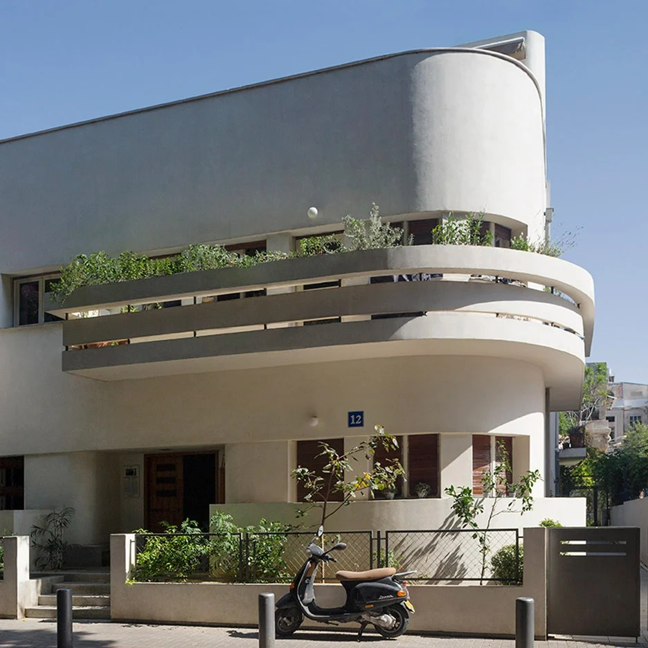 Architectural Design Of Residential Building 10 Of Tel Aviv S Best Examples Of Bauhaus Architecture