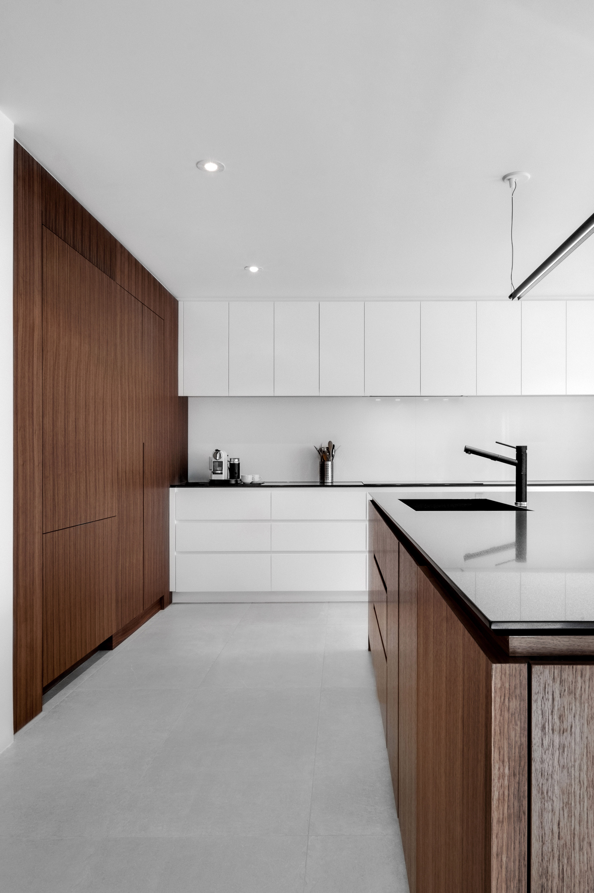 Minimalist Living Space Appareil Architecture Transforms Montreal Home Into Minimalist
