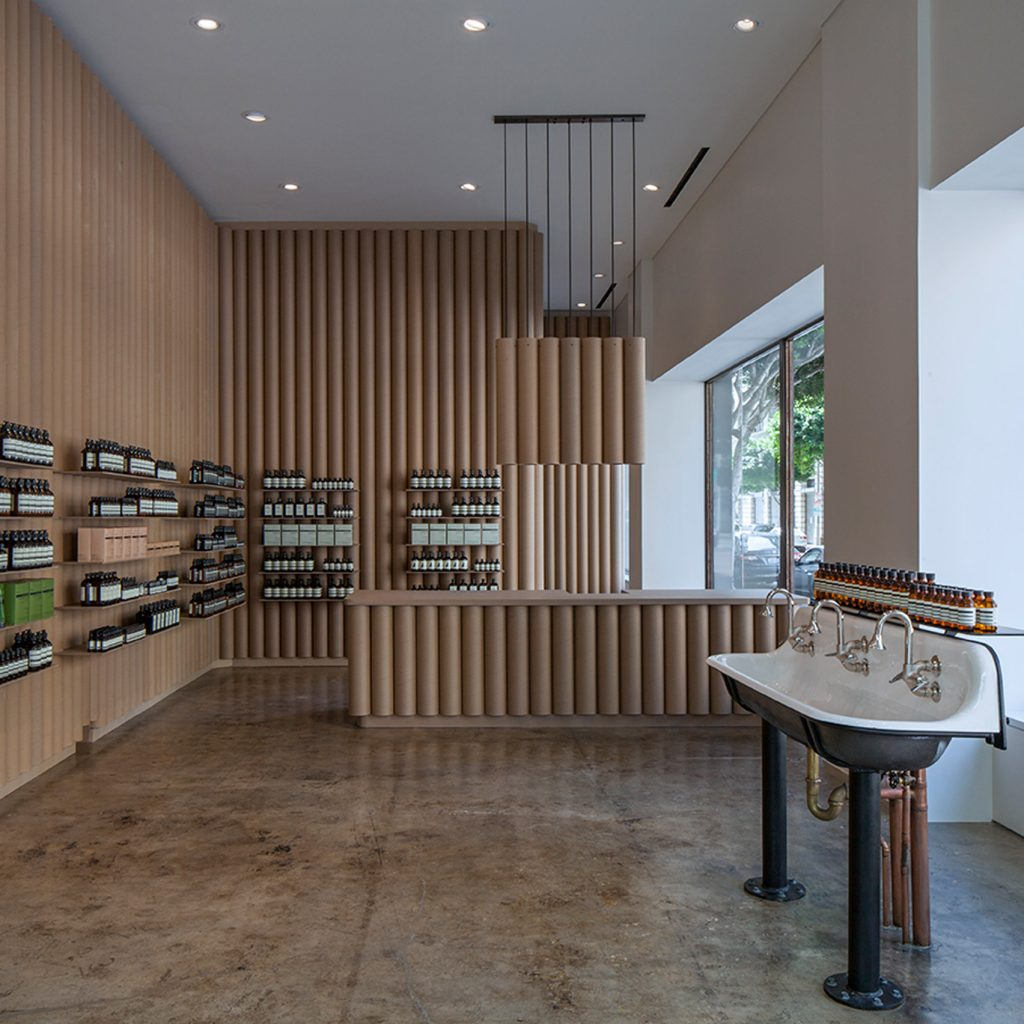 Interior Designer Los Angeles Brooks 43 Scarpa Recycles Cardboard Tubes And Paper For Los