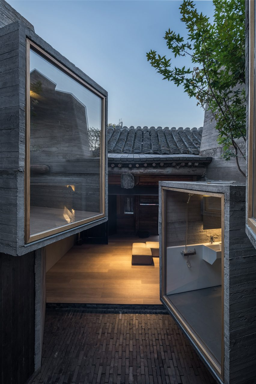 Concrete Rooms Micro Hostel With Tiny Concrete Rooms Installed By Zhang Ke In Old