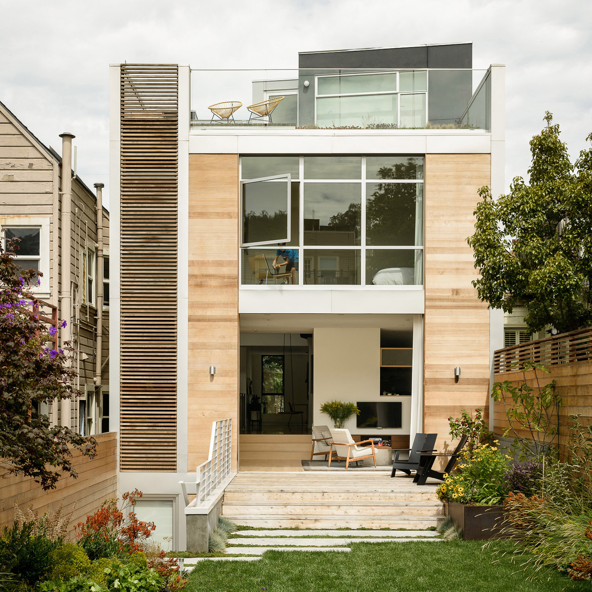 Architectural Design Of Residential Building Feldman Designs San Francisco Home With Roof Garden And Indoor Swing