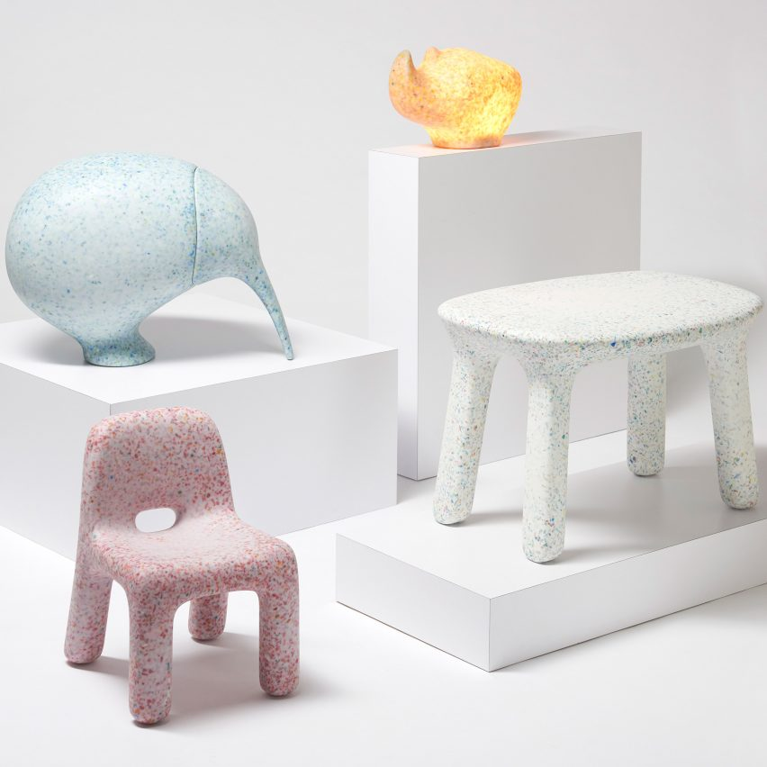 Plastic Furniture Made From Old Toys Introduces Kids To