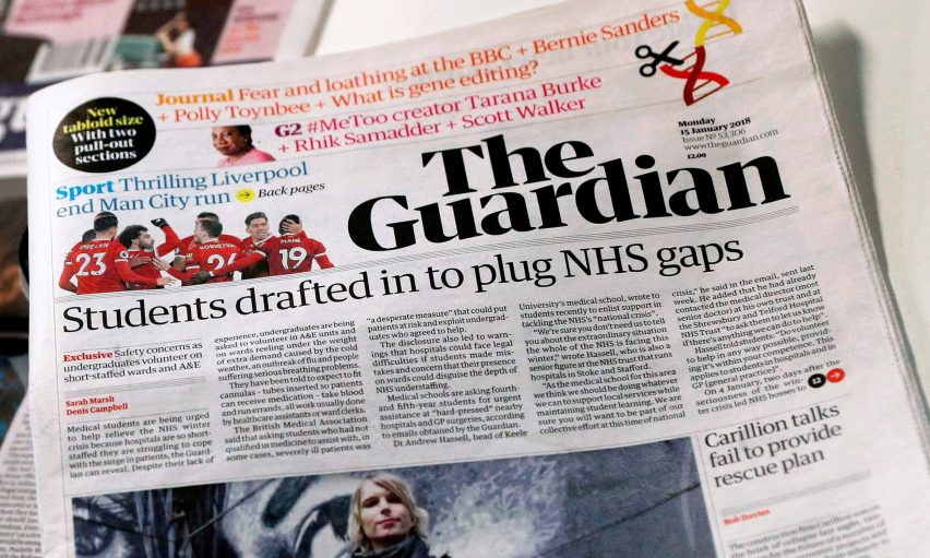 The Guardian newspaper unveils font and logo as part of wider redesign