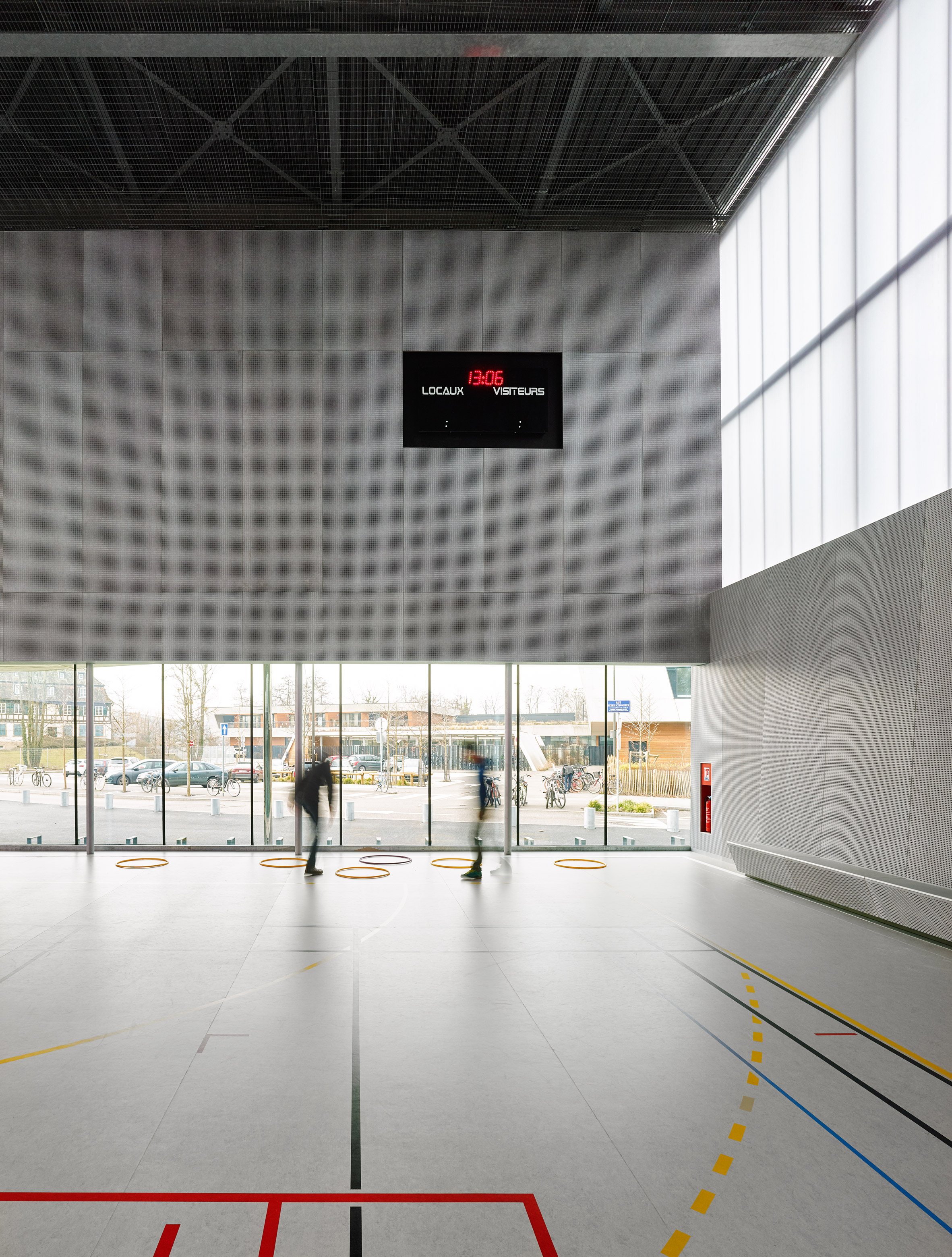Deco Design Strasbourg Glass Walls Create Visual Connection Between Strasbourg Sports