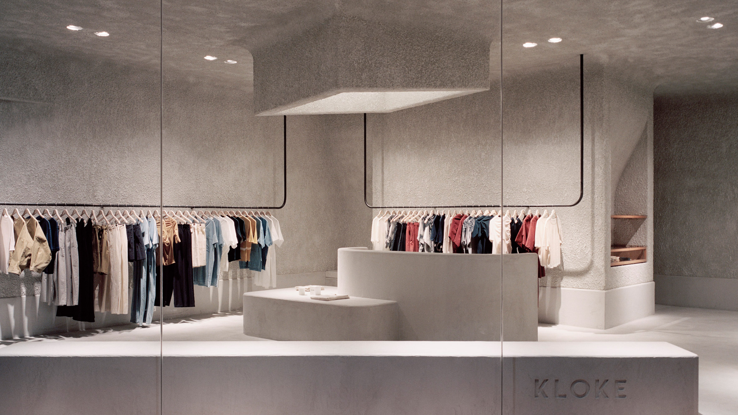 Retail Display Stands Australia Studio Goss Takes Cues From Brutalism For Melbourne Clothing Store