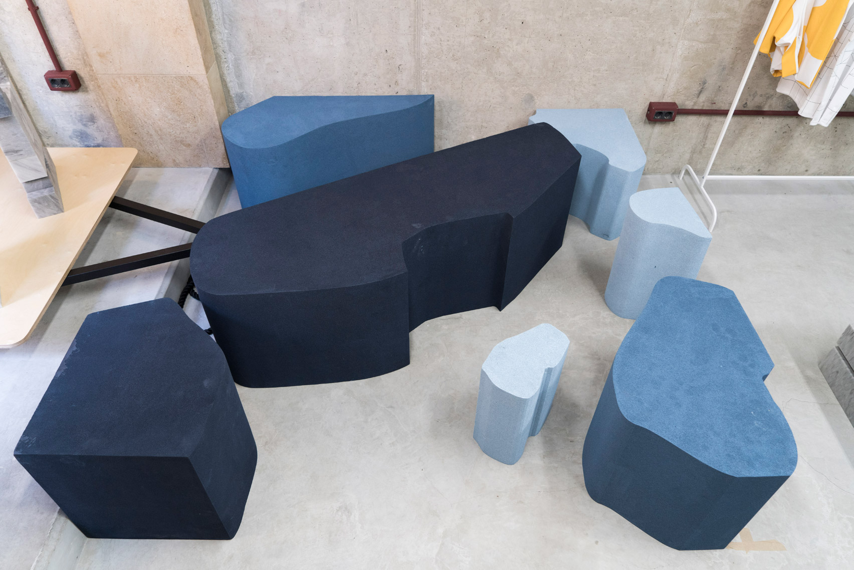 Different Types Of Foam Geometric Foam Blocks Mimic Marble And Terrazzo At Beirut Design Week