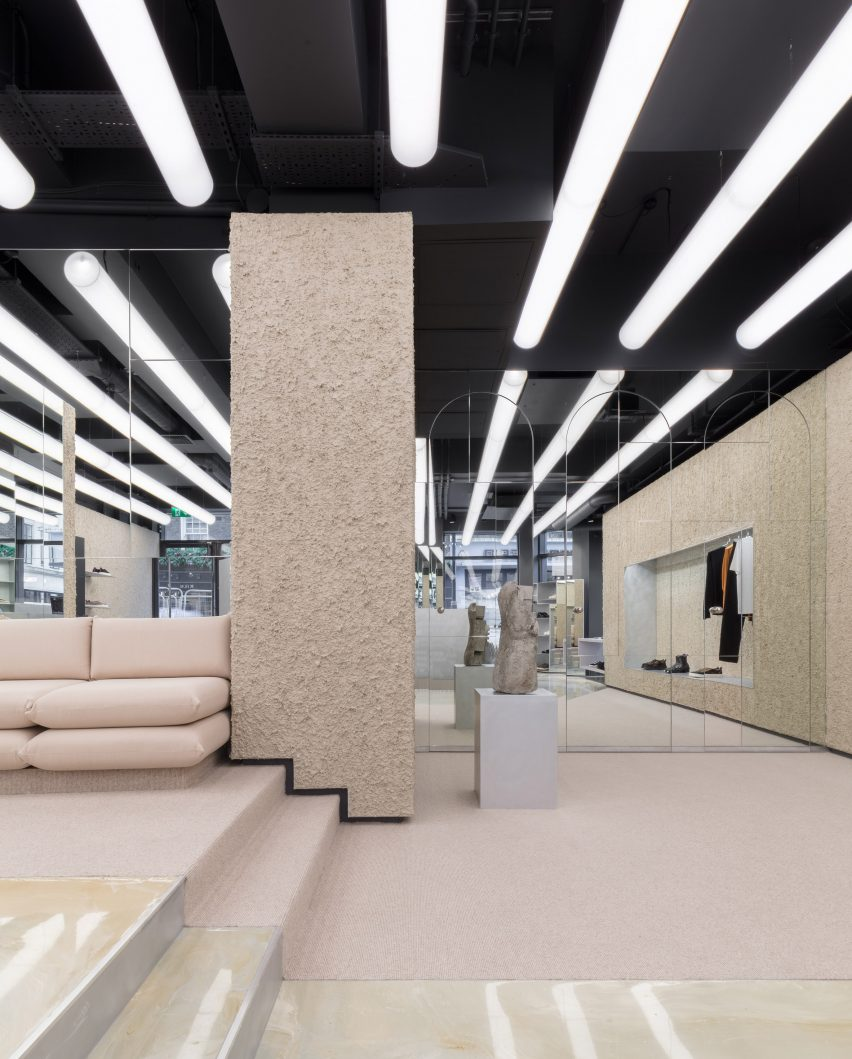 Ceiling Design Retail Eytys S London Store Pays Homage To Swedish Brutalism