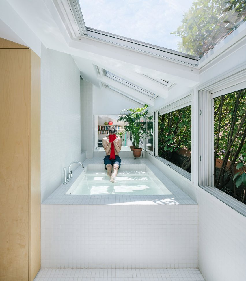 G House Secret Rooms Accessed Through A Bath Tub In G House By Gon Architects
