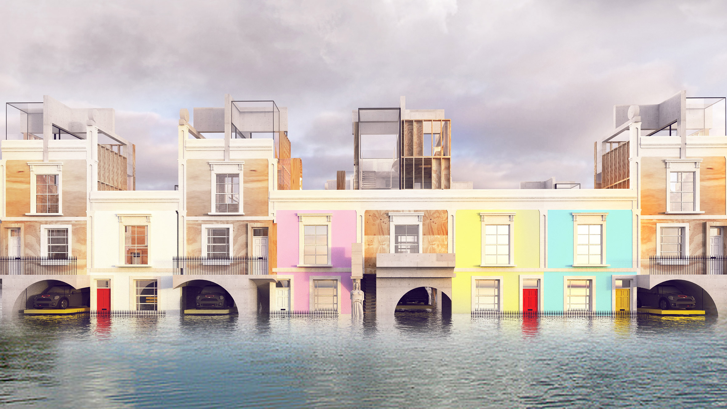 Zenki Haus Design The D Haus Company Proposes Flood Proof Homage To Georgian Housing
