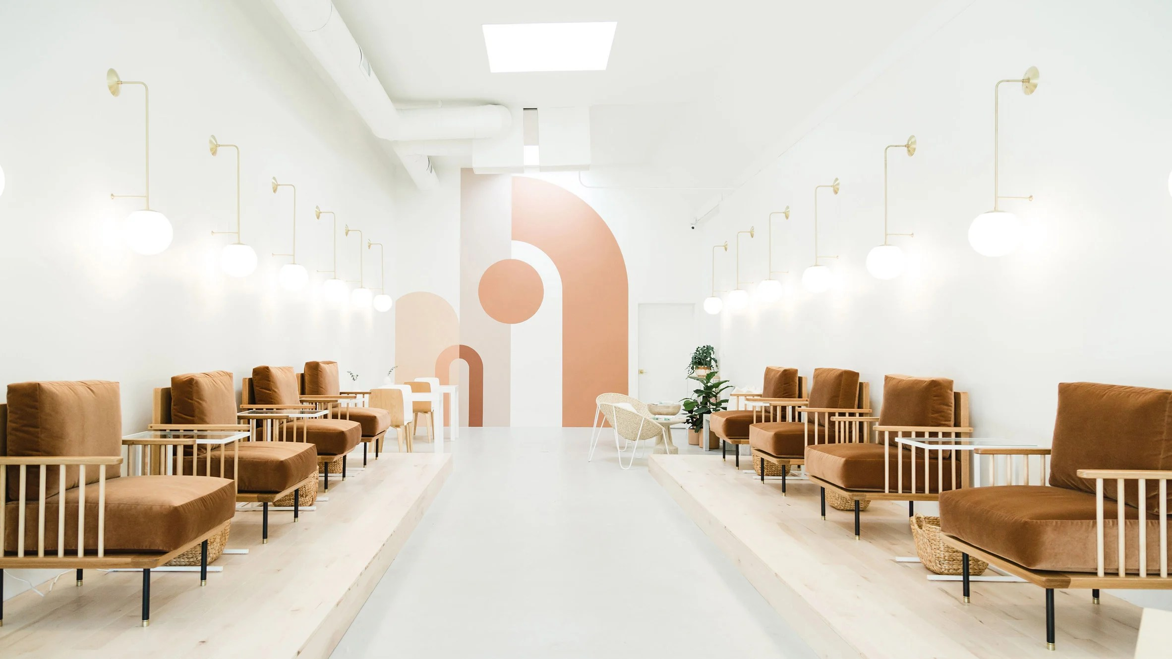 Design De Salon Katie Gebhardt Opts For Simplicity At Leo Nail Salon In San Diego
