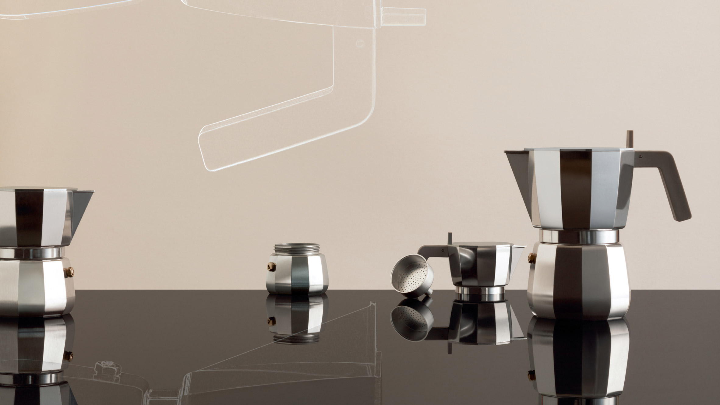 Alessi Espressokocher David Chipperfield Redesigns The Classic Moka Espresso Maker For