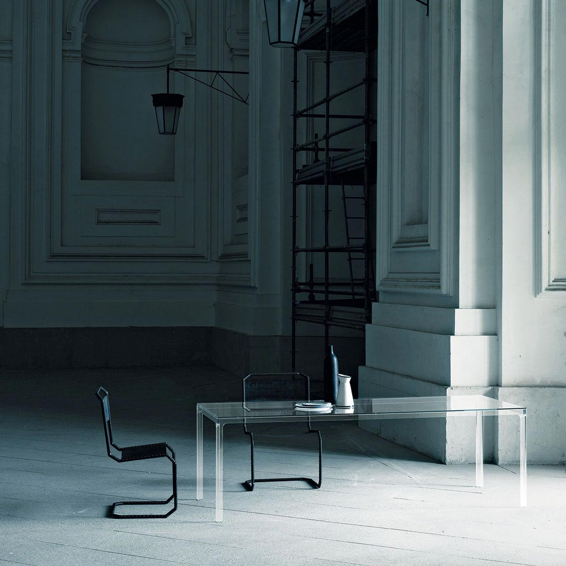 Glastisch Tempered Dining Table Oscar By Glas Italia