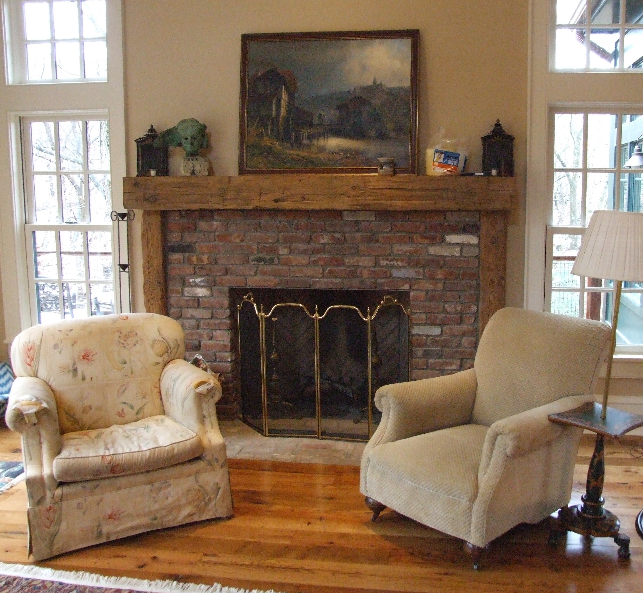 Fireplace Beam Mantel Reclaimed Barn Wood Fireplace Mantels Hollowed Out For Easy