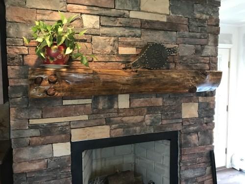 Medium Of Reclaimed Wood Mantel