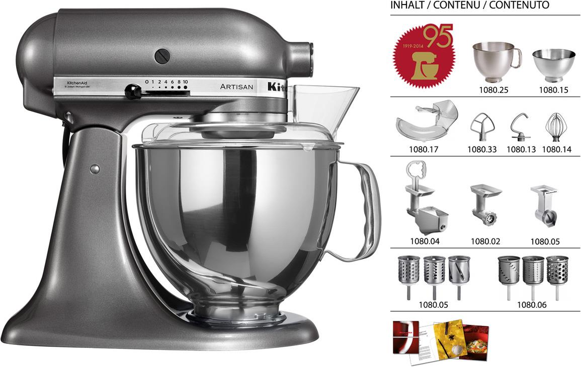 Kitchenaid Küchenmaschine Video Kitchenaid Artisan Ksm150 Jubiläums Set 4 80l