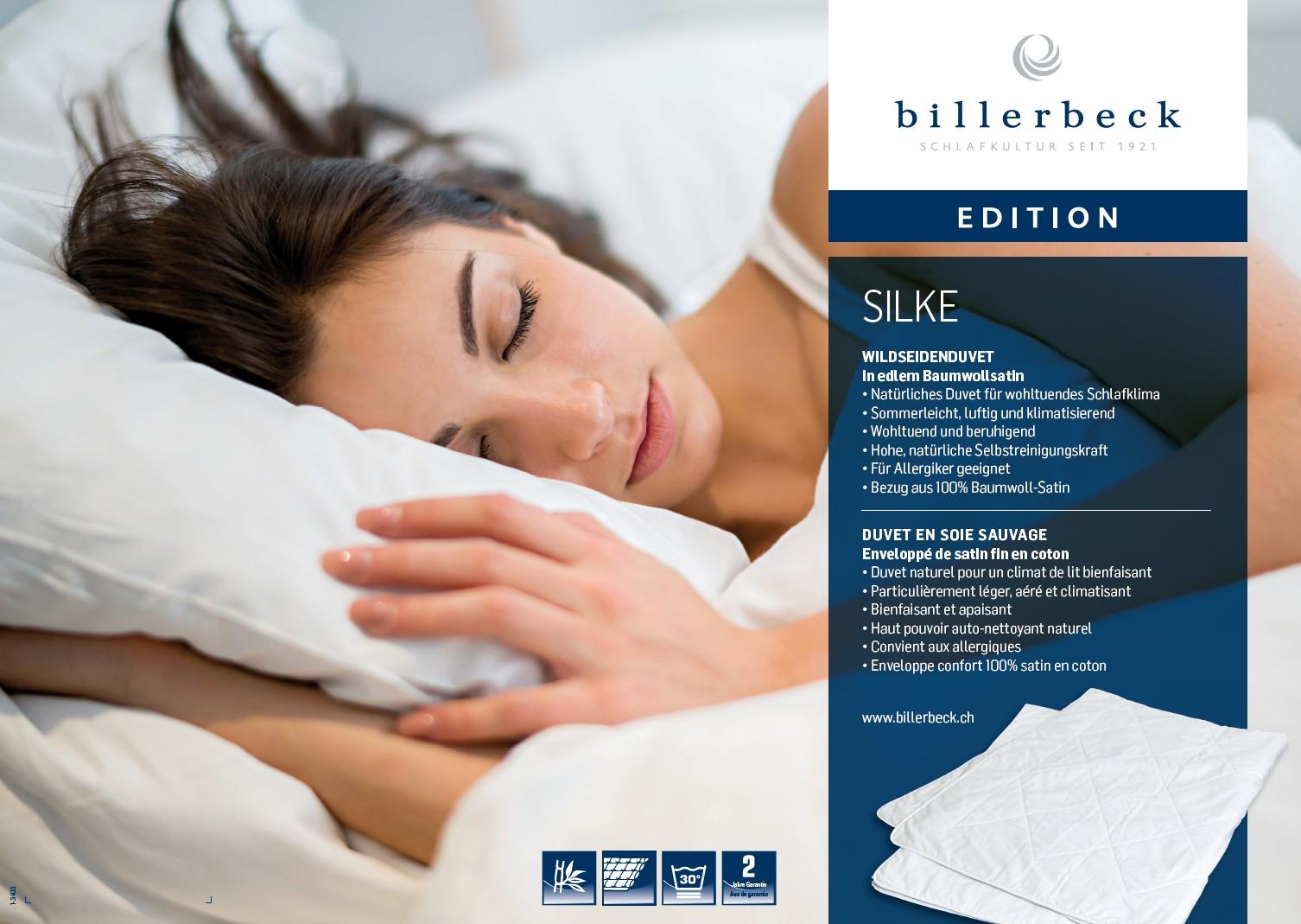 Billerbeck Baumwoll-decke Wash Cotton Uno Billerbeck Edition Silke 240 X 240 Cm 1050g
