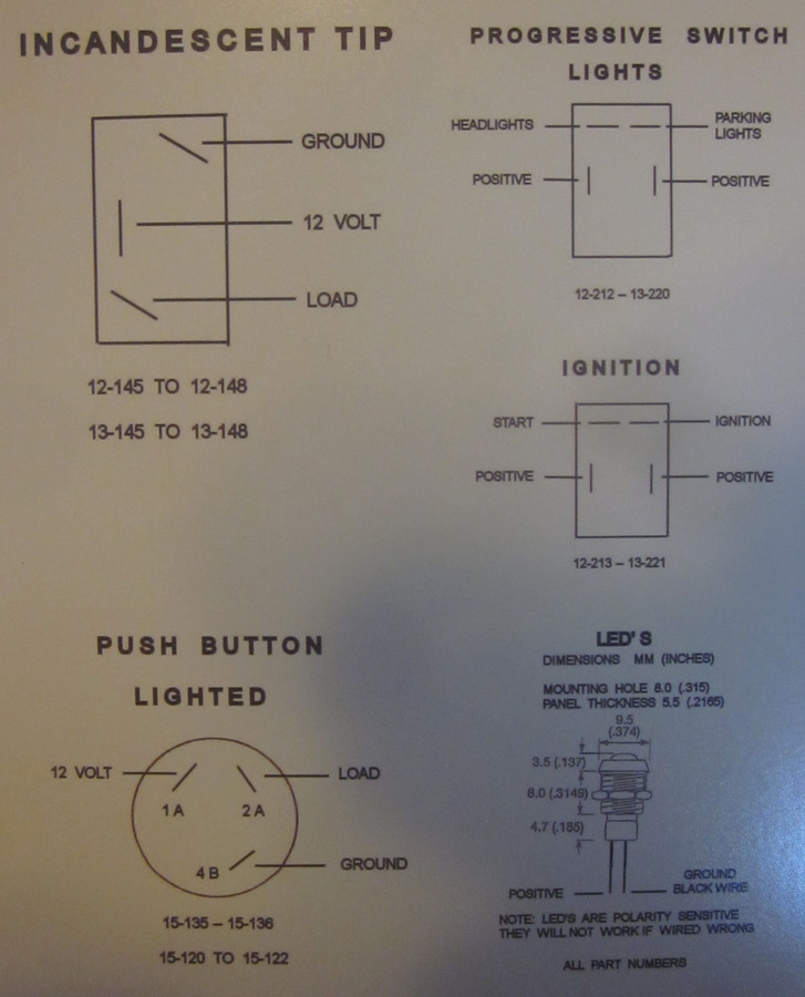 Wiring Diagrams for K-Four brand switches - Doghouse Repair