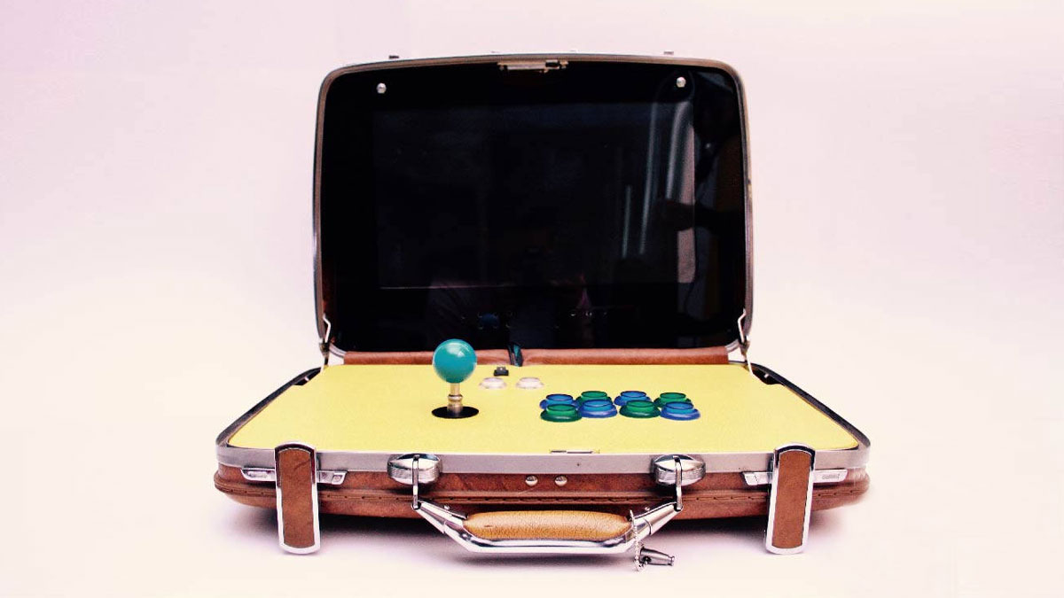 Retro Inflatable Sofa Retro Inspired Portable Briefcase Arcades