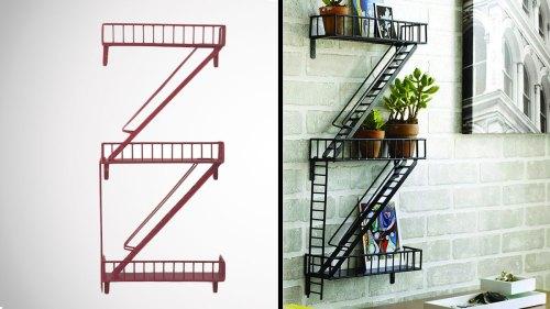 Medium Of Fire Escape Shelf