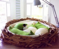 The Bird's Nest Bed | DudeIWantThat.com