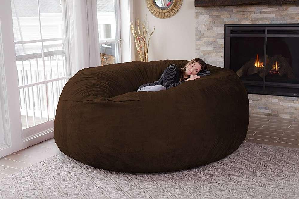 Chill Sack 8 Foot Bean Bag Chair Dudeiwantthatcom