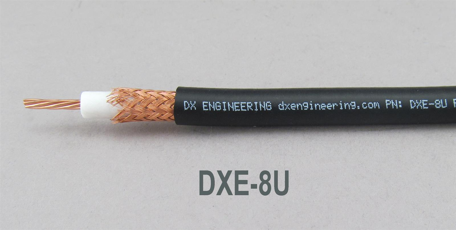 Coaxial Cable Dx Engineering Rg 8 U 50 Ohm Bulk Coaxial Cable Dxe 8u