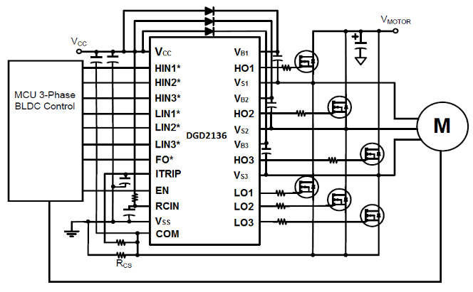 600 v three phase gate driver ic