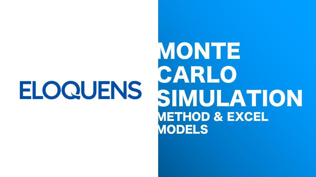 Monte Carlo Simulation - Excel Models - Instant Downloads - Eloquens