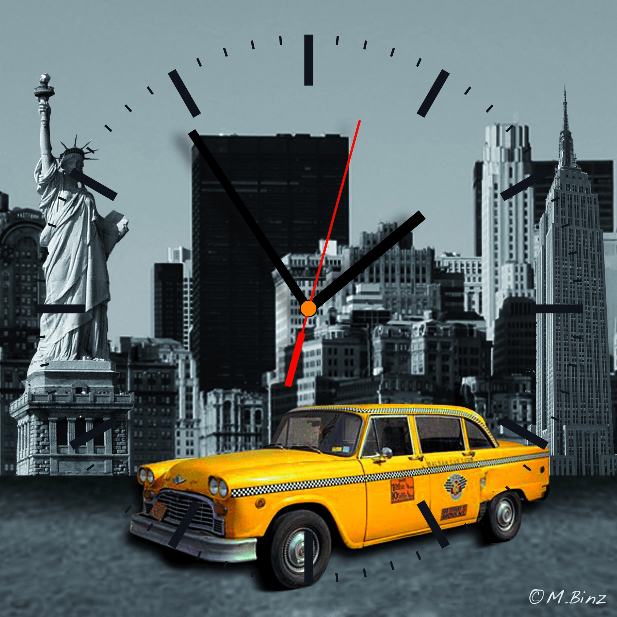 New York Klok Contento City Of Dreams Wandklok Op Klokken Expert Nl Frank
