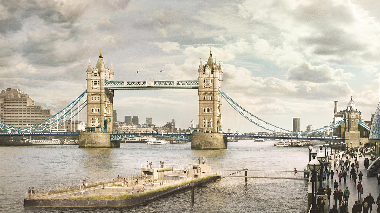 Pool Abdeckplane Löst Sich Auf A New Floating Pool On The Thames Is About To Become A Reality