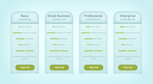Page price list PSD design template Free download - price list design template