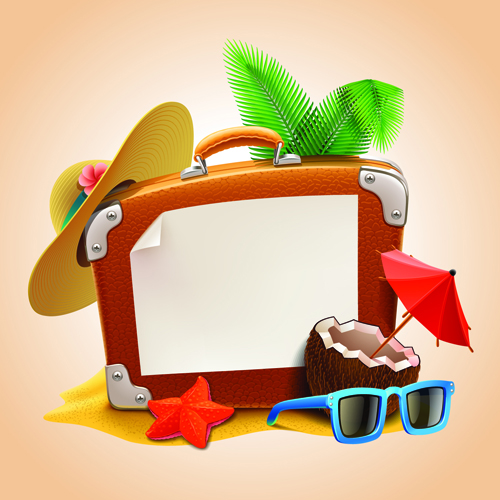 Vacation design vector backgrounds 01 Free download