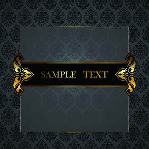 Black And Gold Powerpoint Template black golden ornate backgrounds