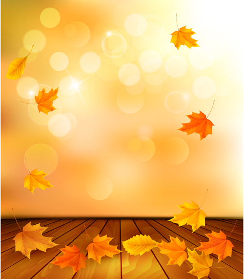 Free Fall Cartoon Wallpaper Beautiful Autumn Leaves Background Vector 04 Free Download