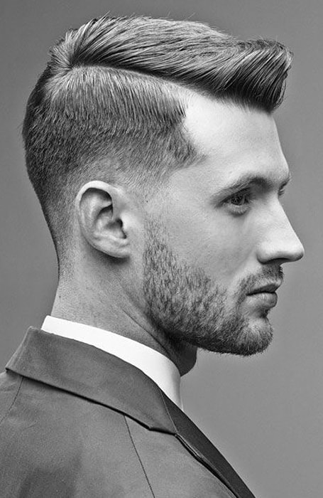 Men's Low Fade With Parting