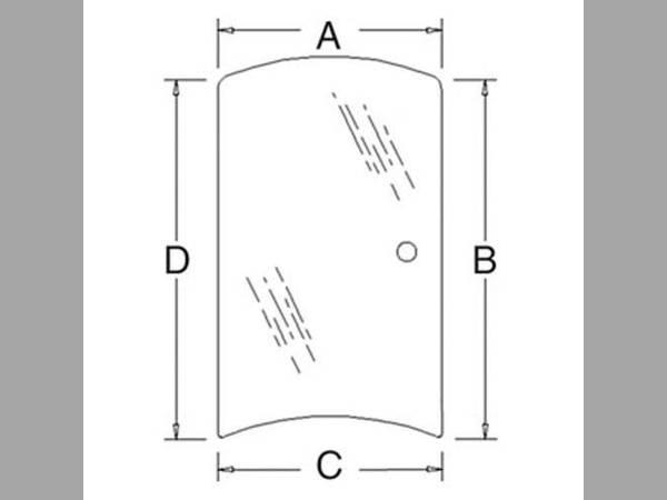 Cab Part/Glass oem 3C581-70540 sn 123212 for Kubota Cab Part/Glass
