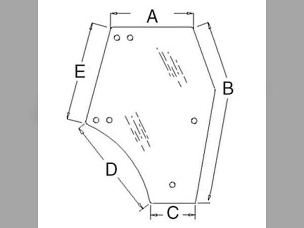 Cab Part/Glass oem 3C581-70674 sn 114678 for Kubota Cab Part/Glass