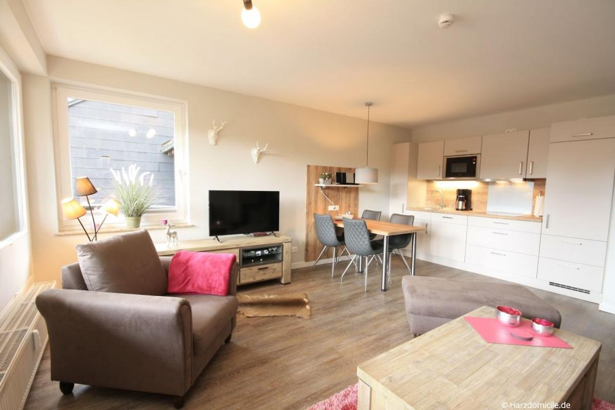 Moderne Wohnzimmer Mit Offener Küche   Panoramic Hohegeiß ...