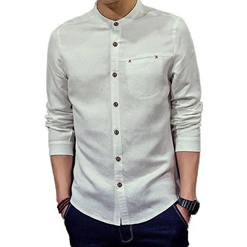 Chinese Wholesale Clothing Manufacturers Men 39;s Chinese Collar Shirts Buyers Wholesale