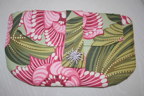 Amy Butler clutch, front
